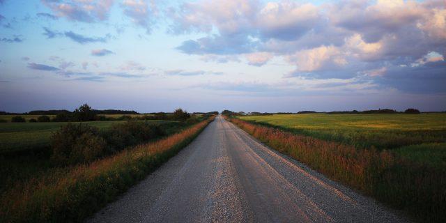 Country road near Onanole