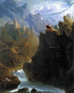 John Martin, The Bard 1817